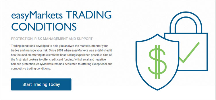 EasyMarkets Trading Konditionen