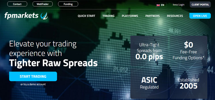 Firma FP Markets zusammenarbeiten