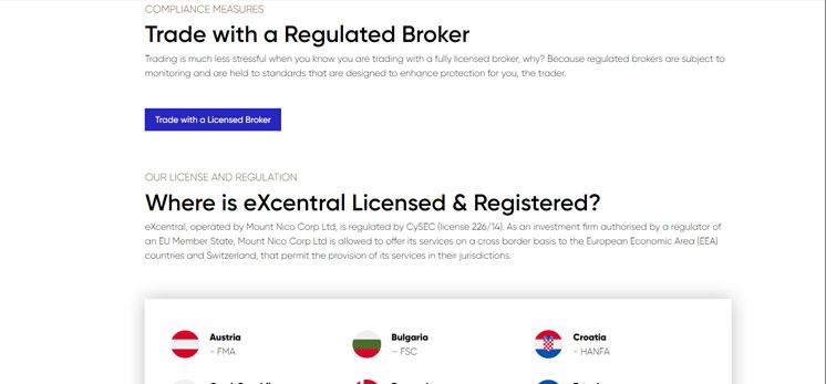 Folgt eXcentral Regulierungen oder Lizenzen?