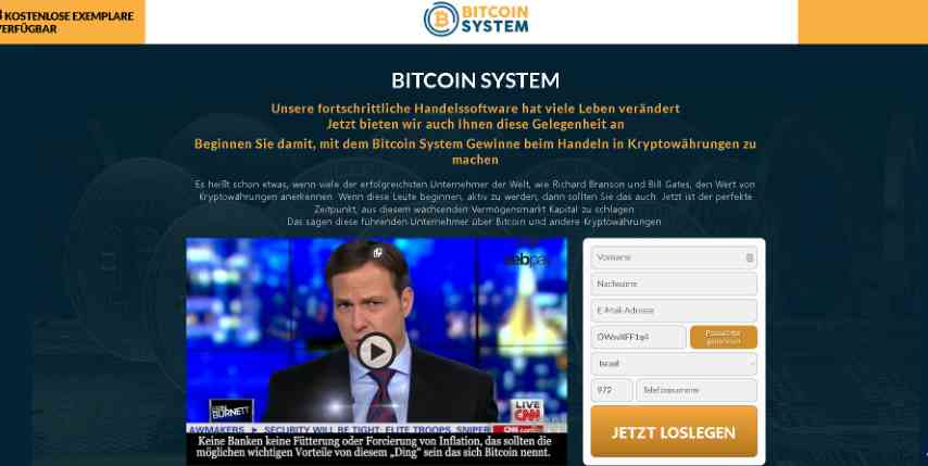 bitcoin system homepage