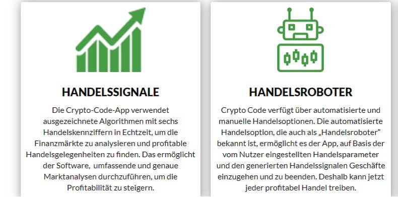 Crypto code HANDELSSIGNALE