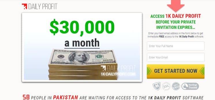 1K Daily Profit Geld verdienen
