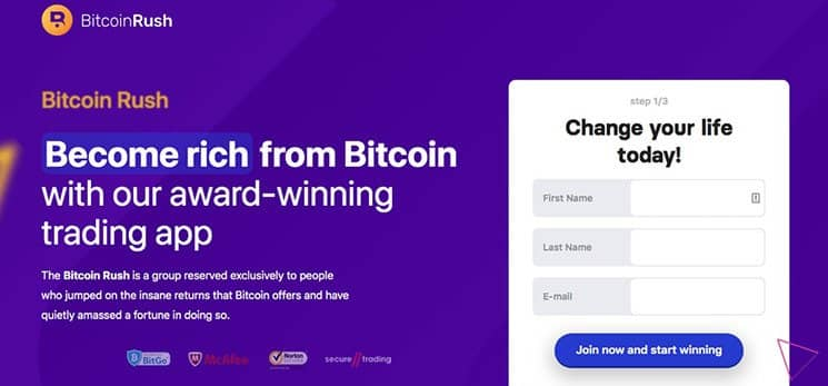 Die Bitcoin Rush App – So gehen Sie los